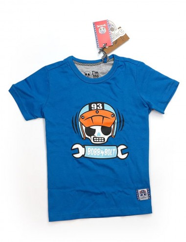 Bobby Bolt Scram T-Shirt Blue